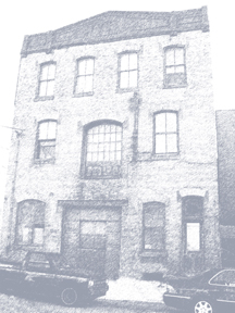 Photograph of the facade of the Warehouse.  Home to Philadelphia Artist Lofts where Lofts and artist studios can be rented.
